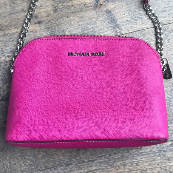 Michael Kors Magenta Leather Crossbody bag